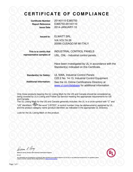 Certificazione UL